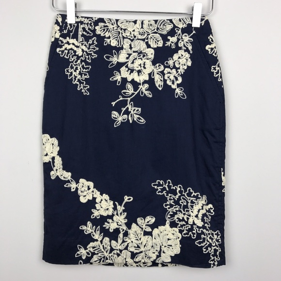 70d9f2d43 J. Crew Skirts | J Crew Factory Floral Embroidered Pencil Skirt ...