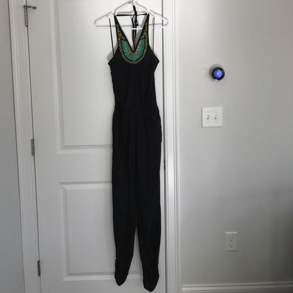 256bfc8aee4 H M Pants - H M black halter jumpsuit ...