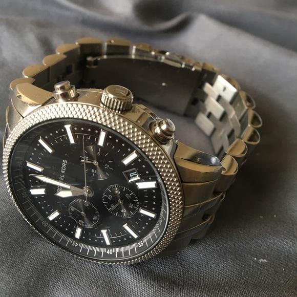 michael kors silver watch men | eBay