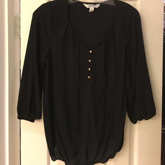 59694ccfe4282a Old Navy Tops   Black 34 Sleeve Blouse   Poshmark