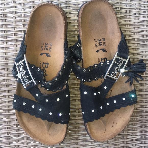 7a728b90e2b2 Betula by Birkenstock Shoes - 🔴Betula by Birkenstock black w rhinestones -tassel