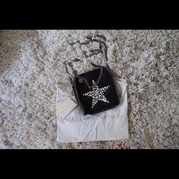 d1fbd4e72514 Black Falabella Crystal Stones Star Tiny Tote. M 59595a4c2fd0b77e96080e52