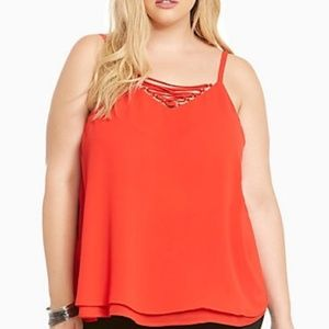 NWOT torrid red double layer tank