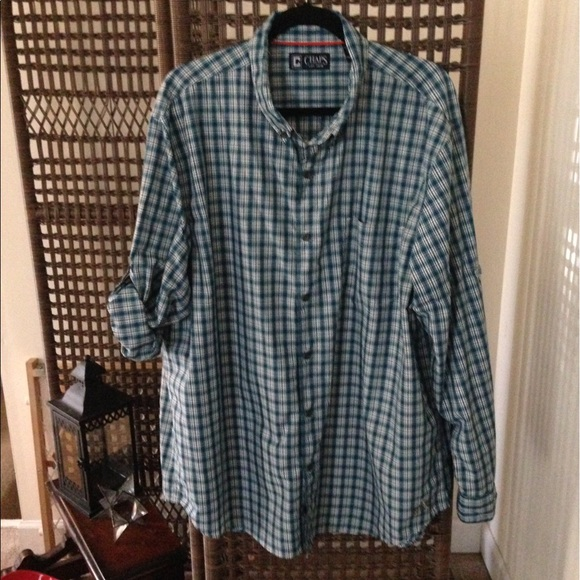 83 off chaps other chaps men 39 s long sleeve teal blue for Mens teal button down shirt