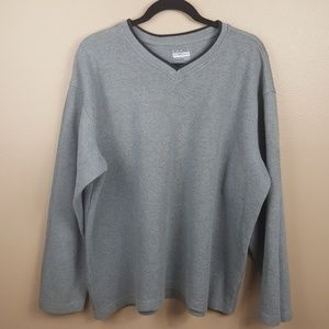 Mens Grey V-Neck Sweater Size XL