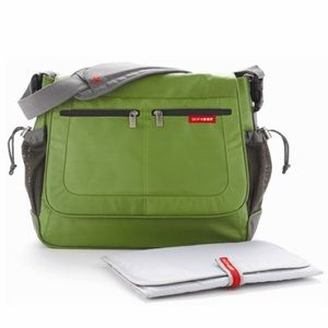 Skip Hop Messenger Diaper Bag Green