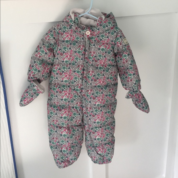 55 Off Gap Other Full Body Floral Snowsuit From Baby