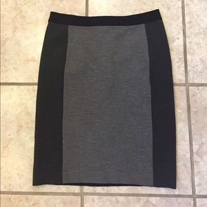 Gray and black Ann Taylor pencil skirt, size 8