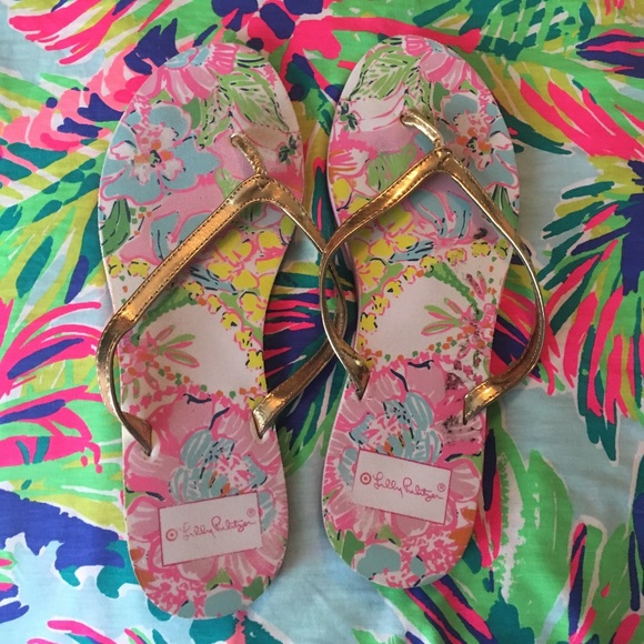 2744094ab Lilly Pulitzer Shoes - Lilly for Target flip flops