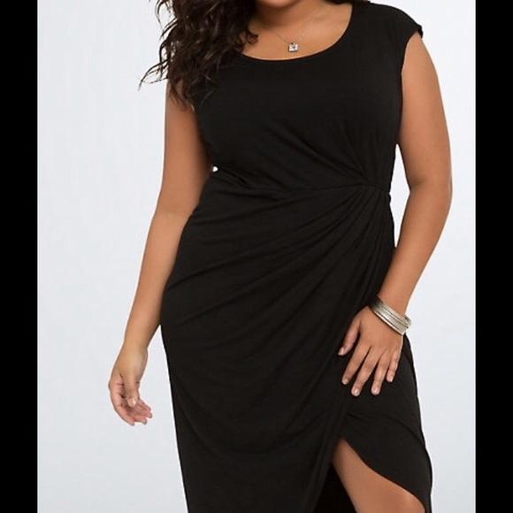 76f769048be Torrid black knit ss tulip midi dress NWt