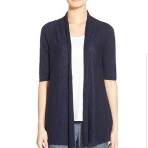 EILEEN FISHER ORGANIC CARDIGAN OPEN SHORT SLEEVE