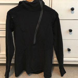 Lululemon zip up stretchy hoodie black ?10-12