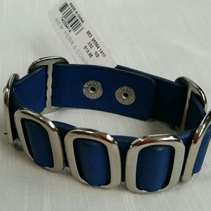 NEW YORK & COMPANY LEATHER & SILVER BRACELET