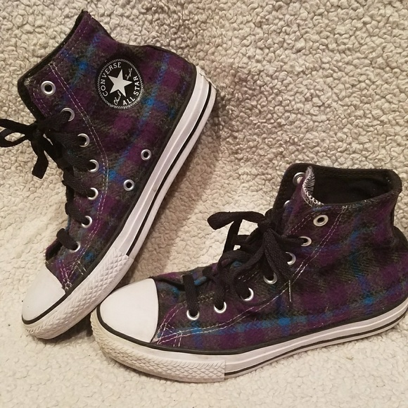 41fcd7651209 Converse Shoes - Converse high top flannel fleece lace up shoes 5