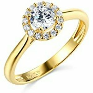 Jewelry - 14k Solid Yellow Gold Engagement Ring