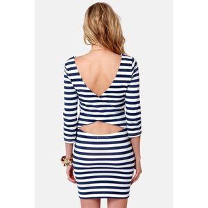 Billabong Dresses - BILLABONG BLUE AND WHITE STRIPED DRESS