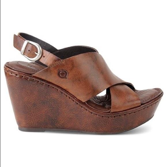 2f3d940f0ddcb0 Born Shoes - BORN Emmy Platform Wedge Sandals