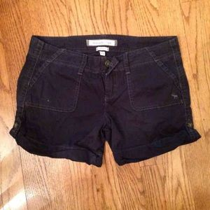Abercrombie & Fitch 00 navy blue stretch shorts
