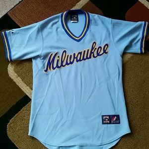 best sneakers 98f5b 41a95 CHRISTMAS SALE! Majestic Retro Milwaukee Brewers