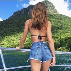 Grlfrnd Cindy high rise shorts