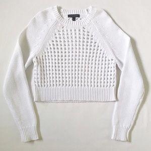 Banana Republic White Cotton Knit Sweater