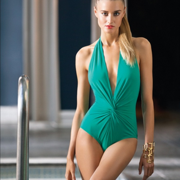 38fd08395f karla colletto Other - KARLA COLLETTO one piece halter plunge swimsuit