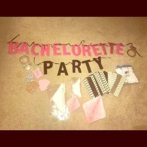 Other - Bachlorette party kit, pink, banner, rhinestone