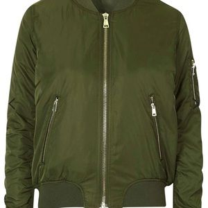 SaleTopshop Green Bomber Jacket