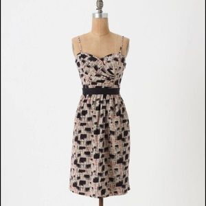 "Anthropologie ""Burlapp"" Blurred Shapes Dress"