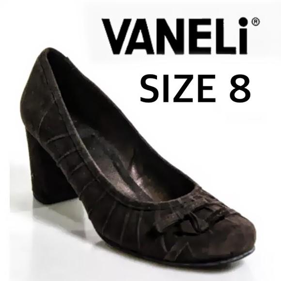 Vaneli Shoes - VANELi DARK BROWN SUEDE  BOW TIE DETAIL SZ 8