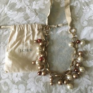 JCrew Long Link Necklace with Pearls