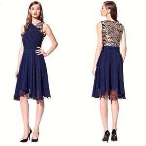 3.1 Phillip Lim navy blue sequin cross front dress