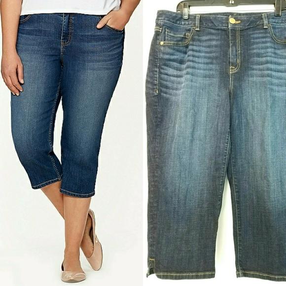 27b8274b06b06 Lane Bryant Denim - Lane Bryant Denim Capri Pants   Capri Jeans