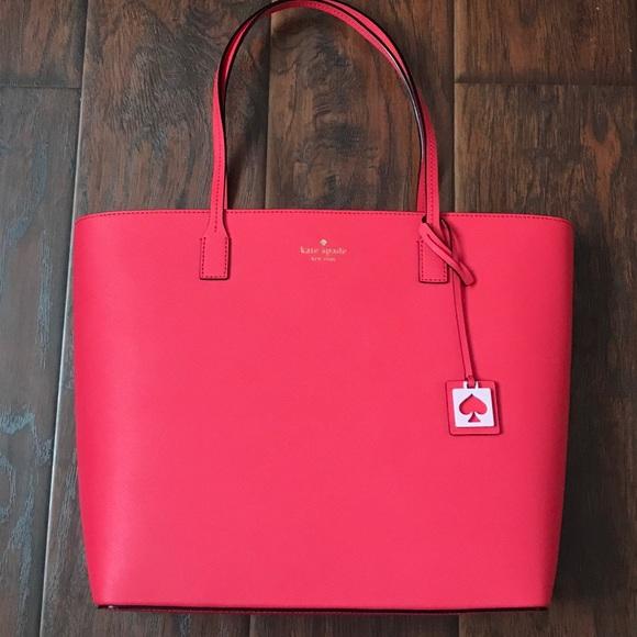 Kate Spade Bags Crab Red Karla Abbey Street Tote Bag Poshmark