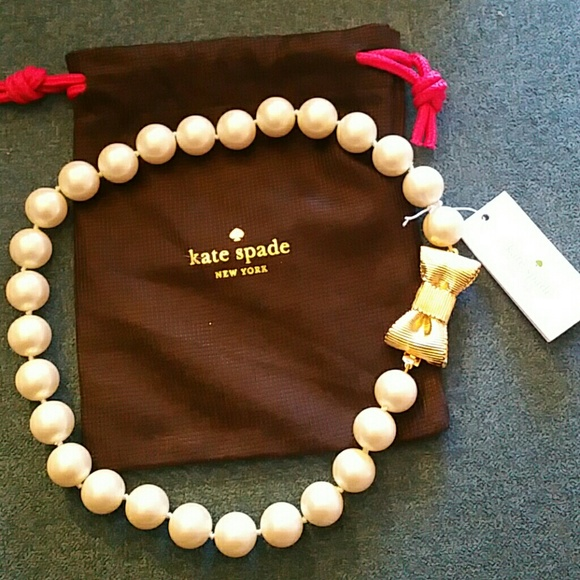 Kate Spade Pearl Bow Necklace: 33% Off Kate Spade Jewelry