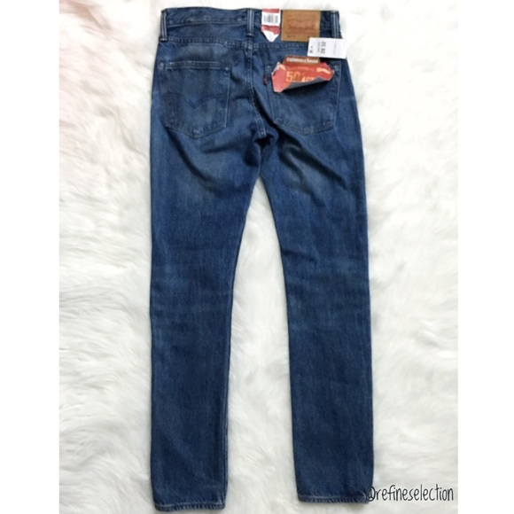 levis levis 501 ct white oak cone selvedge tapered