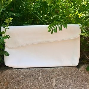 Handbags By Juliette White Leather Vintage Item