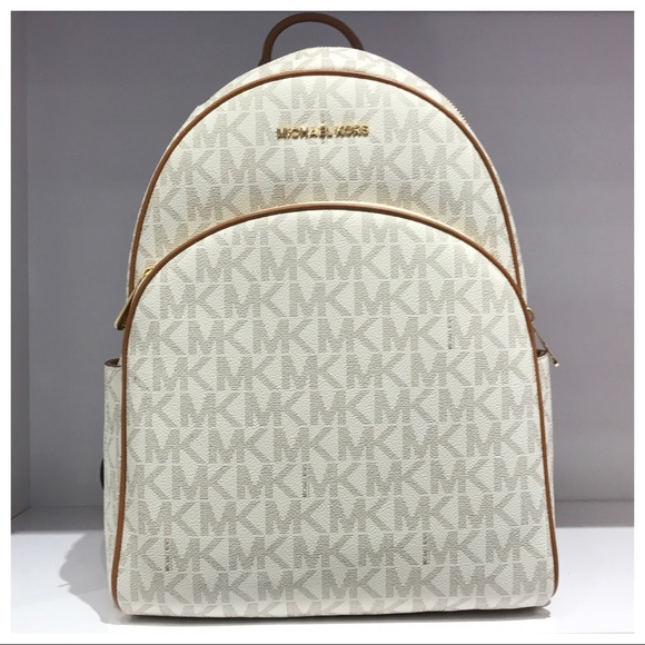 51764347f232 Michael Kors Bags | Nwt Mk Abbey Large Backpack Vanillaacorn | Poshmark