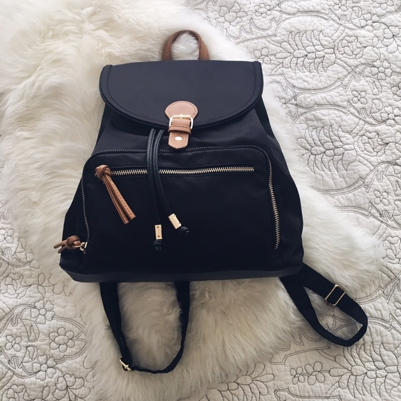 0c848b86e76a Asos Handbags - Asos Black Backpack with Gold Detail