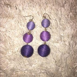 Jewelry - Purple balls dangle earrings