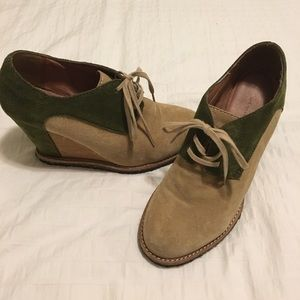 Anthropologie leather booties