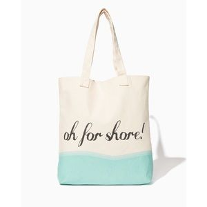 ⬇️ Charming Charlie Oh For Shore Beach Tote Bag