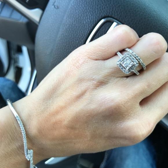 e0a11f19d9dd37 Kay Jewelers Jewelry | Princess Cut Antique Setting Diamond Wedding ...