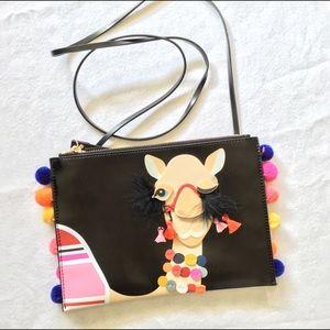 Kate spade camel pouch / black