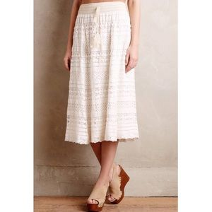 Anthropologie Crochet Maxi Skirt by Mermaid