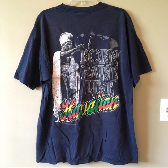 f5234dbc Shaka Active Shirts   Hawaiian Pride Tshirt Black Rasta Colors King ...