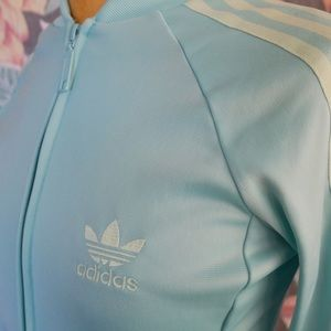 adidas Jackets & Coats - Sea foam Green contrast stripes Adidas Jacket