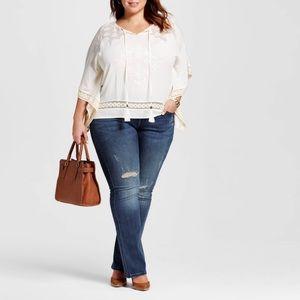 NEW PlusSize Skinny Bootcut Jeans-Ava&Viv™Women