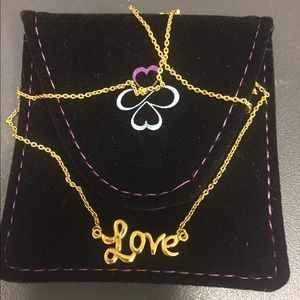 """Jewelry - """"Love"""" SS gold clad chain"""
