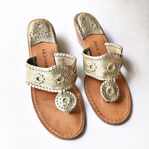 Jack Rogers Light Gold Sandals